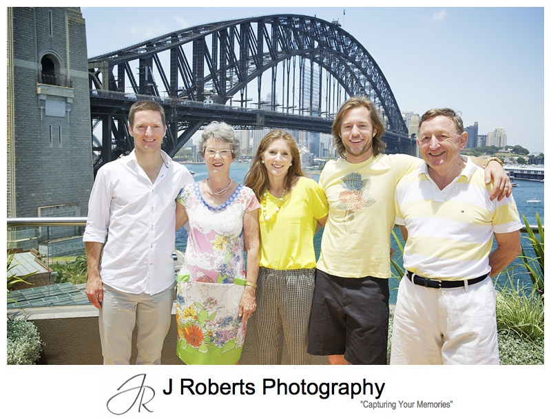 Professional Family Portraits Sydney during Extended Family Christmas Lunch at family home Milsons Point